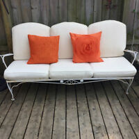 1950's wrought iron couch