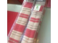122cm Wide, Red Stripe Roman Blind- New Unopened Box- Dunelm Mill