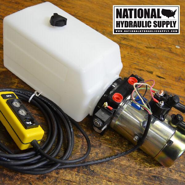 SPX Stone/Fenner 12VDC Double Acting Hydraulic Power Unit,Pump,Dump Trailer,Lift