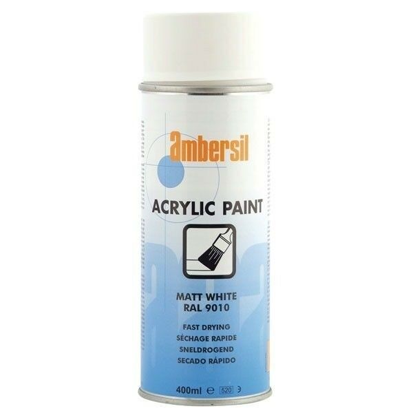 Details about Ambersil 20181-AA Acrylic Paint Matt White RAL 9010 400ml