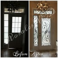 Rosales Wrought Iron&Decorative Glass Inserts