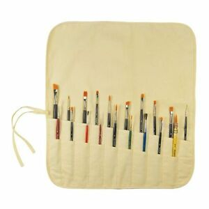 Roll-Up-PAINT-BRUSH-Tool-HOLDER-Canvas-For-Long-Short-Brushes