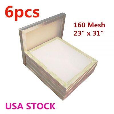 Us - 6pcs Aluminum Frame Silk Screen Printing Frame - 160 Mesh 23 X 31