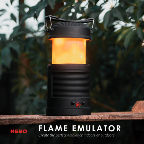 NEBO # 6875 BIG POPPY CAMPING LANTERN,. POWER BANK, DIMMABLE FLICKERING FLAME