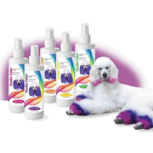 Pet Hair Dye Dog Cat Coat Semi Permanant Grooming Spray 4oz Choose From 7 Colors