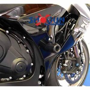 Suzuki 2012-2016 GSXR1000 GSXR-1000 Shogun Frame Sliders Cut Version Black