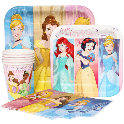 Disney Princess Party Tableware (Disney Princess Party Tableware Combo for 8 Guests (Plates Cups)
