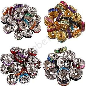 Wholesale-100-Pcs-Acrylic-Silver-Gold-Plated-Spacer-Loose-Beads-Charms-8-mm