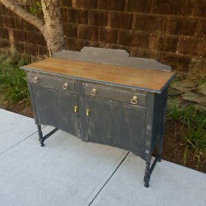 Vintage Solid Timber Sideboard Buffet Rustic Shabby Chic