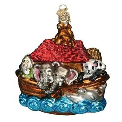 Old World Christmas 12395 Glass Blown Noah's Ark Ornament