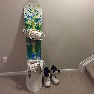 Women's Forum Snowboard, Bindings and Boots