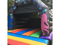 ** Disco bouncy castle hire with built in speaker and lighting**