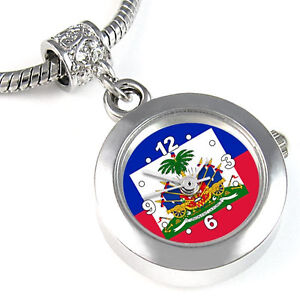 haiti bracelet haiti flag silver european spacer charm bead for 1840