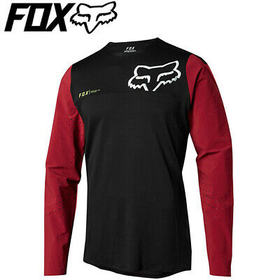 Fox Attack Pro Long Sleeve Cycling Jersey (2018) - Red/Black - Sizes M, L Fox Attack Jersey