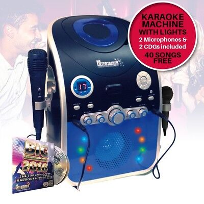 Mr Entertainer CDG Karaoke Machine with Bluetooth & LED Disco Party Lights