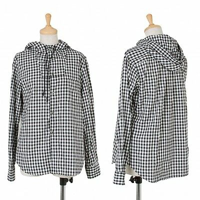 BLACK COMME des GARCONS Checked Hoodies Size S(K-47874)