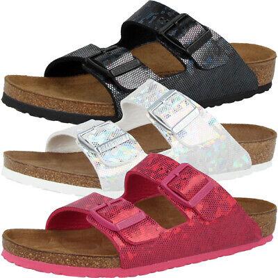 Birkenstock Arizona Kids Mikrofaser Schuhe Kinder Sandale Hologram Pantolette