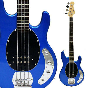 dr tech classic 4 strings electric bass guitar metallic blue brand new ebay. Black Bedroom Furniture Sets. Home Design Ideas