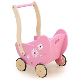 Daisy Dolls Wooden Pram - brand new in box