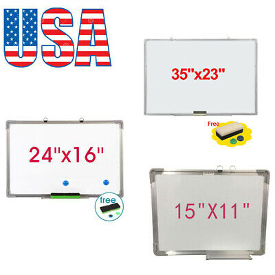 Single Sided Magnetic Dry-erase Whiteboard With Marker Eraser 2pcs Magnets Usa