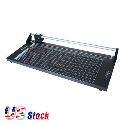Usa Stock 24 Inch Manual Precision Rotary Paper Trimmer Sharp Photo Paper Cutter