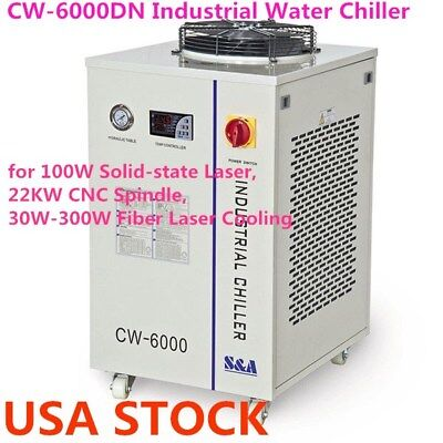 Us - Cw-6000dn Industrial Water Chiller For 100w Solid-state Laser Ac 110v - Ce