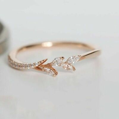 14k gold 14 tiny diamond pieces of exquisite small fresh ladies engagement (Rings Ladies 14k Ring)