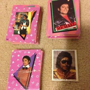 Vintage Michael Jackson collectable cards Cambridge Kitchener Area image 1