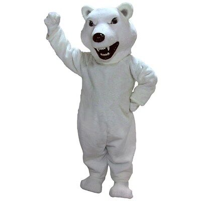 Mean Polar Bear Professional Quality Mascot Costume Adult (Polarizing Means)
