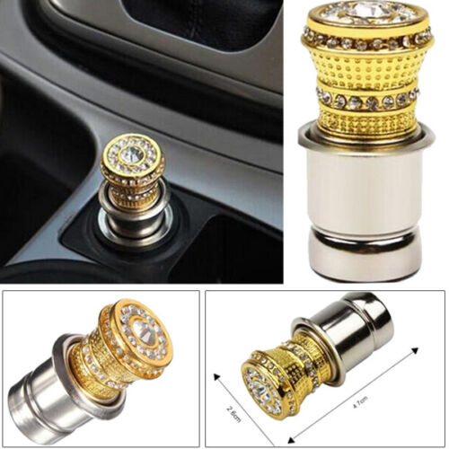 Unique 12V Crystal Car Cigarette Lighter Rhinestone Charger Decor Accessory