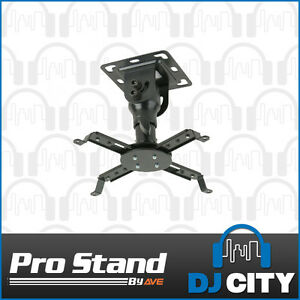 PRJ-102 Projector Bracket Ceiling Roof Mount LCD DLP Black