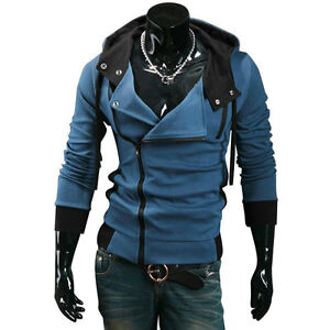 New Assassin's Creed III 3 Desmond Miles Cosplay Costume Hoodie Coat Jacket