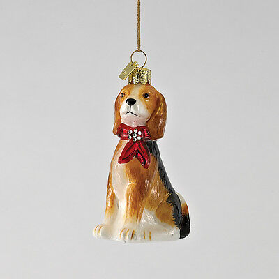 Beagle Noble Gems Glass Ornament
