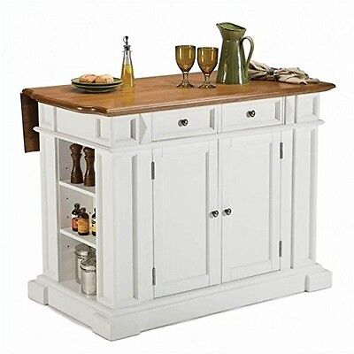 Home Styles  Kitchen Island White And Distressed Oak Finish Distressed Oak  NEW