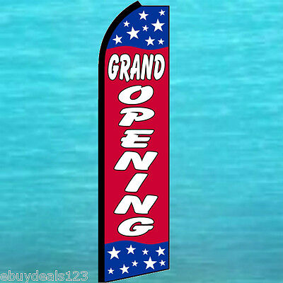 Grand Opening Swooper Flag Tall Flutter Feather Advertising Sign Banner 25-1991