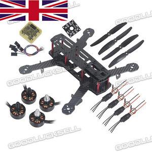3K Carbon Fiber Mini 250 FPV Quadcopter Kit Motor 12A ESC Propeller CC3D QAV250