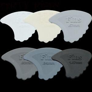 6-x-Dunlop-Nylon-Gauged-Fins-Guitar-Picks-Plectrums-1-Of-Each-Type