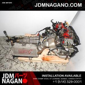 JDM SUBARU WRX STI VERSION 8 EJ207 ENGINE WITH VF37 TURBO, TOP M
