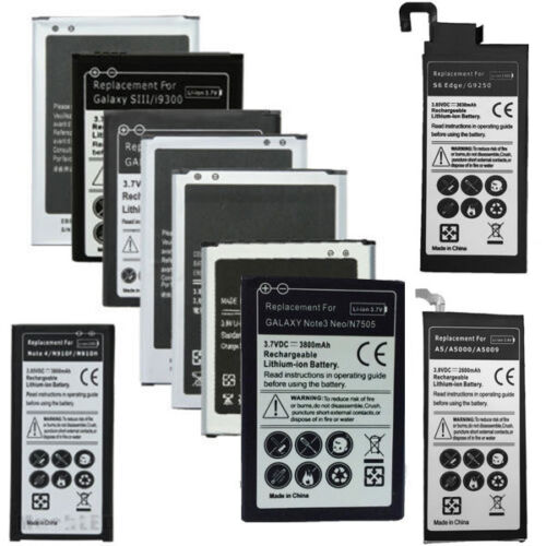 Batteria per Samsung Galaxy S2 S3 S4 MINI S5 S6 NOTE 1 2 3 4 J3 J7