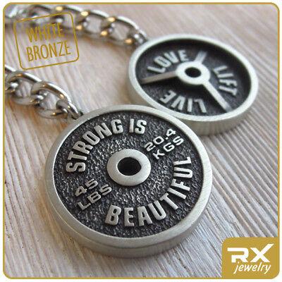 Sport Accessorie Bodybuilding Weight Plate Key Chain Standard Barbell Keyring  Bronze Standard Weight