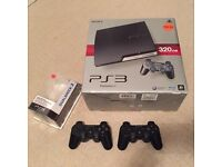 SONY PLAYSTATION 3 Slim 320GB immaculate condition and boxed with games and accessories