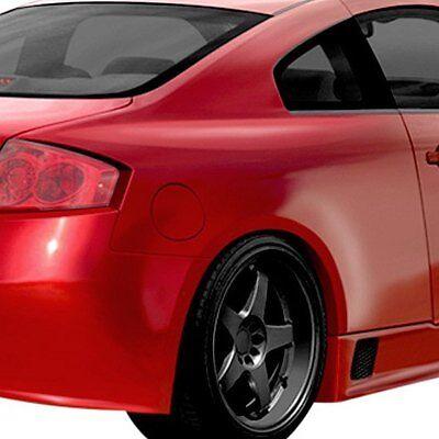 For Infiniti G35 03-07 GT500 Style Fiberglass Wide Body Rear Fenders Unpainted