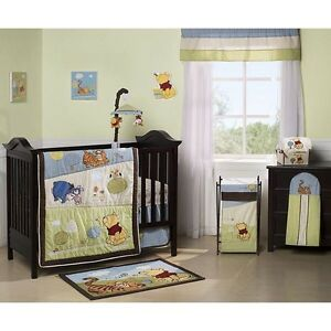 Complete Winnie the Pooh crib set / bedding
