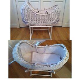 Mamas and papas wicker snug Moses basket