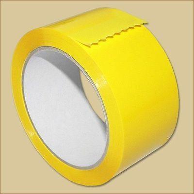 3 Klebeband Rollen 50 mm x 66 m FARBIG PP Leise abrollbar gelb Packband