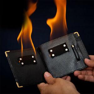 Magic Trick Gimmick Flame Fire Wallet Magician Street Inconceivable Prop