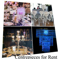 WEDDING Decor for RENT: CANDELABRAS, CHARGER PLATES, CENTERPIECE