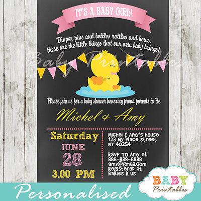 Rubber Duck Baby Shower Invitation for Girls - Printable Digital File](Rubber Duck Baby Shower Invitation)