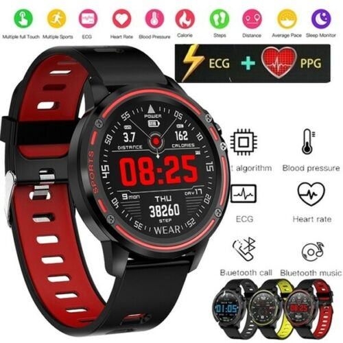 Men Smart Watch IP68 Heart Rate Blood Pressure Blood Oxygen