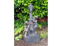 Boy and Girl Lamp Post Water Feature Fountain (FREE LOCAL DELIVERY)